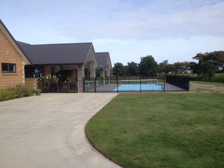 Common area around the pool