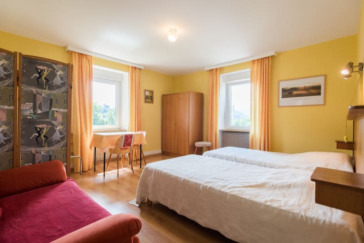 twin bedroom in the family apartment
