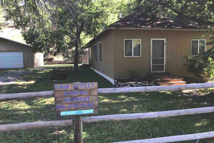 """Main Street Fishing Retreat"" in Wolf Creek, MT."