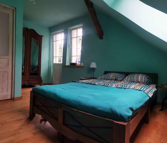 Miętowy pokój 2-os z łazienką i z balkonem