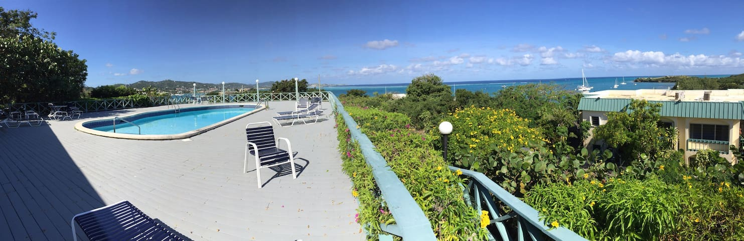 Breezy, Cozy, Beautiful View 1 Rm - Christiansted - Wohnung