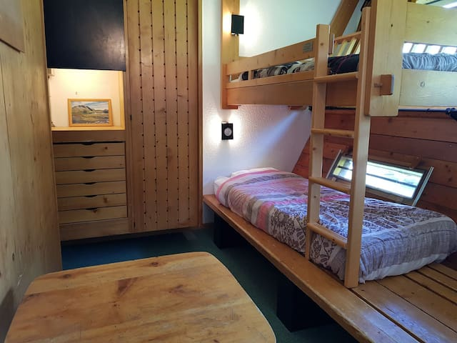 Studio for 2 persons in Arc 1600 next to the slopes and close to shops