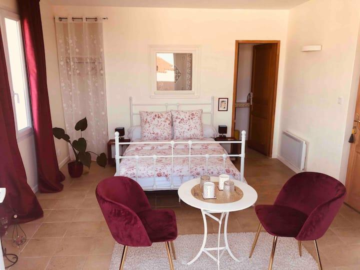 Chambre vue mer et Collioure, parking gratuit