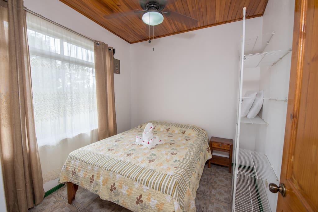 Bedroom 1: double bed & Ceiling fan
