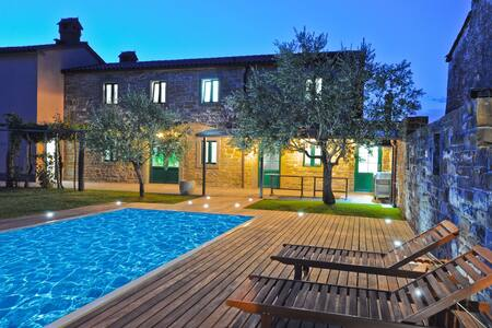 Gorgeous Istrian Olive Villa with a Pool