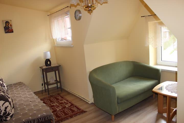 Przytulny apartament z widokiem w Krynicy Zdrój
