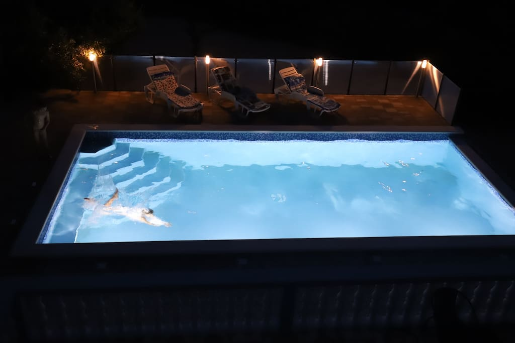Outside 32 m pool