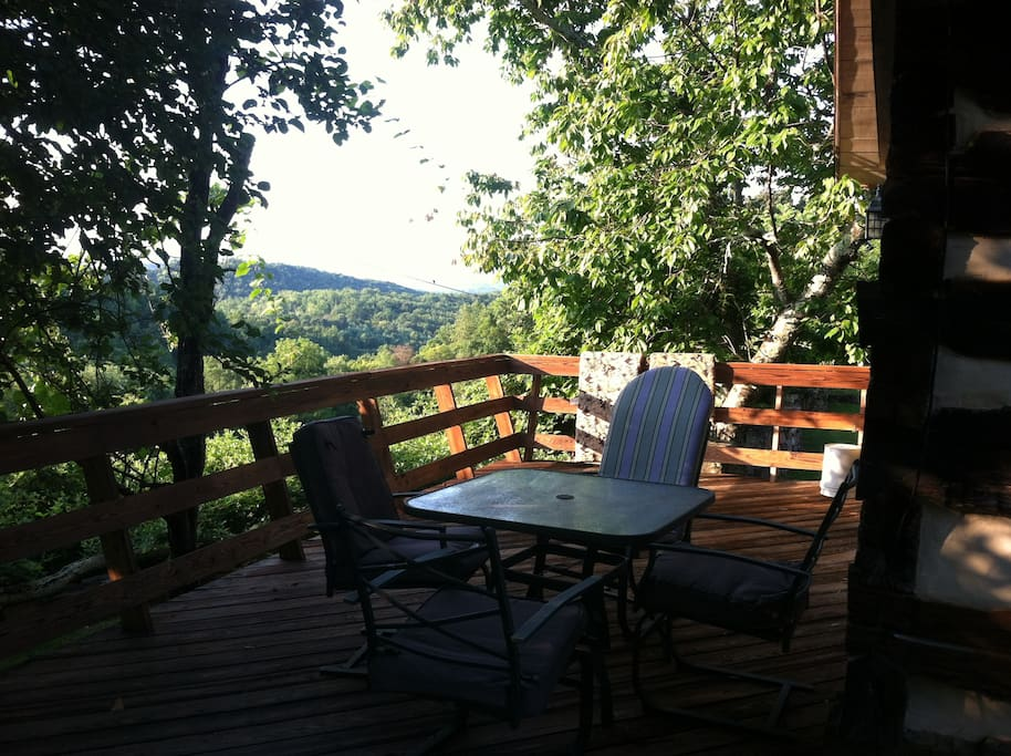 Deck overlooking the Shenandoah Valley and Blue Ridge Mts.