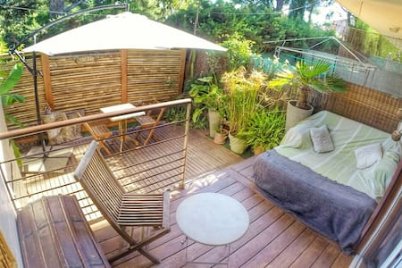 Appartement avec terrasse au calme