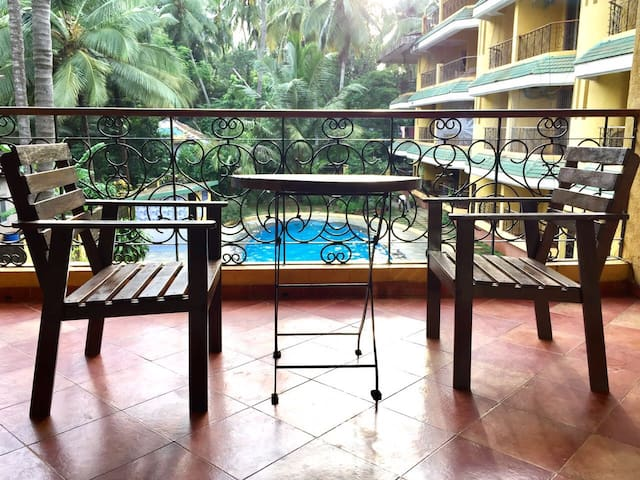 1 Bedroom Fully Furnished Pool Facing Apt. Baga