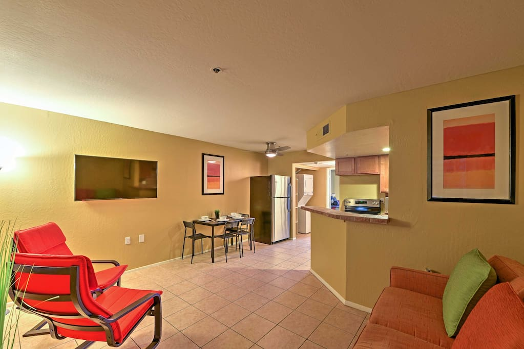 Step inside this well-appointed condo with colorful decor and an open layout.