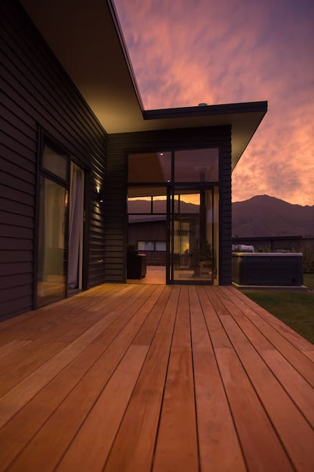 The deck between lounge and bedrooms (including yours!)