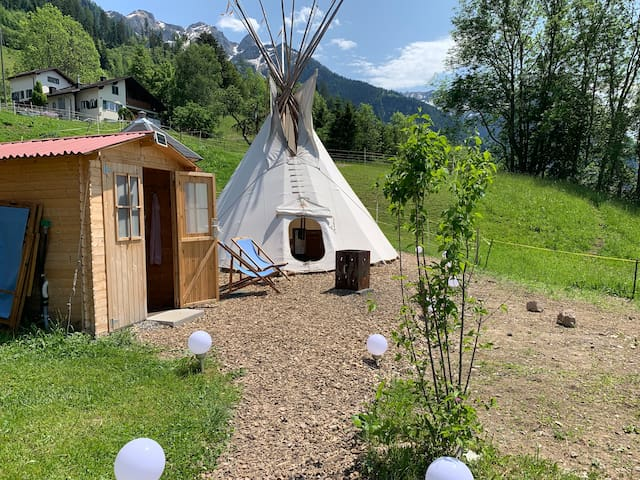Tepee at the Lama & Alpakahof Triesenberg