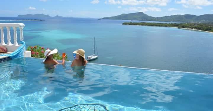 Las Tortugas Seafront Villa on  Paradise Beach
