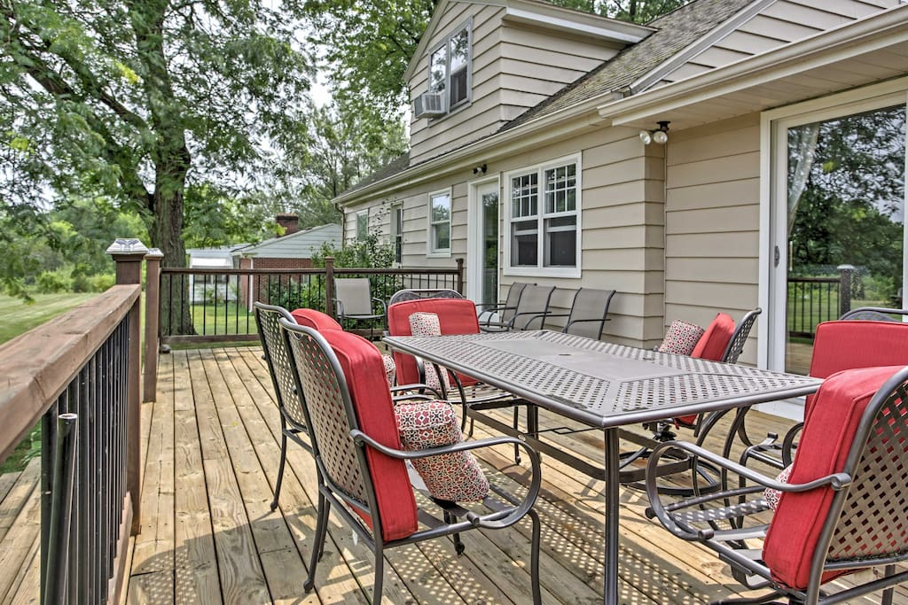 Relax and reconnect with family on the back deck.