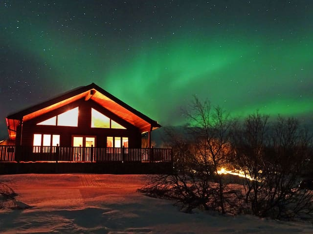 Brúarfoss, luxury cottage with jacuzzi in GC.