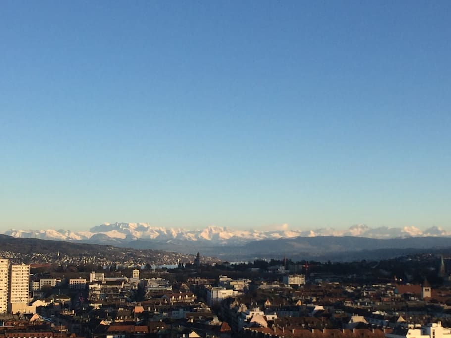 and the swiss Alps