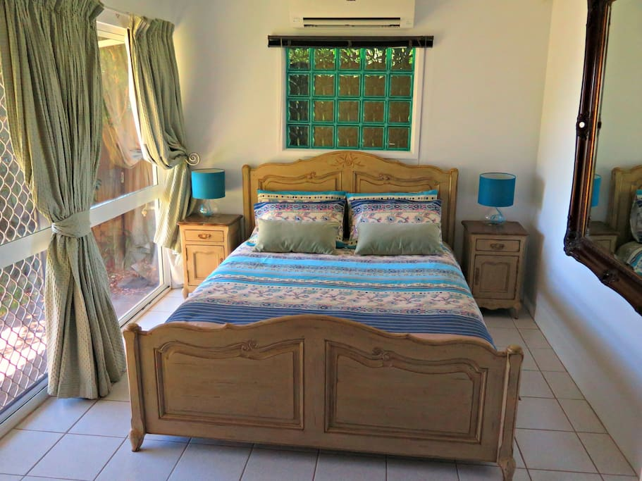 The bedroom with Queen size Latex mattress
