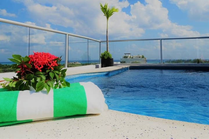 Turtle Suite with Rooftop Pool - Playa del Carmen - Daire