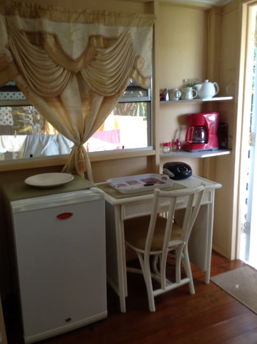 small fridge and other necessities