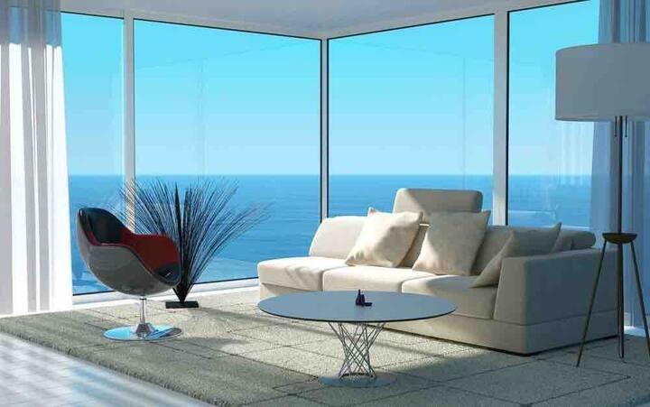 海陵岛敏捷黄金海岸尊享无敌海景双床房 超级近海 楼下就是无边游池