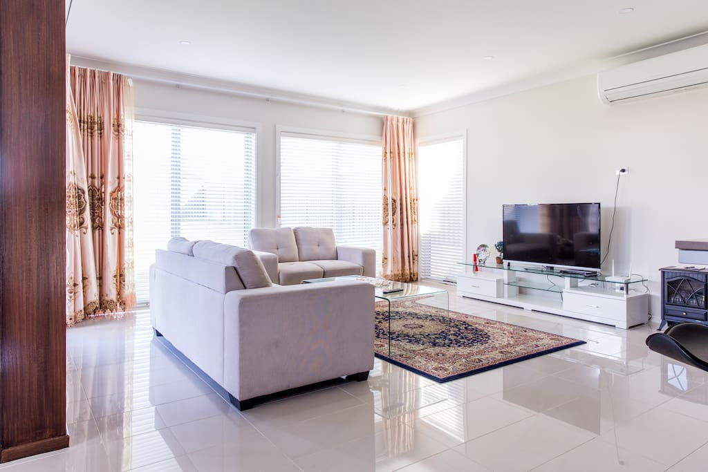 Living room with flat screen TV