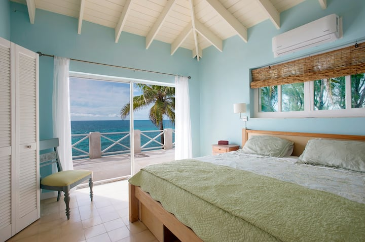 New Listing: Oceanfront Home on Calm Caribbean