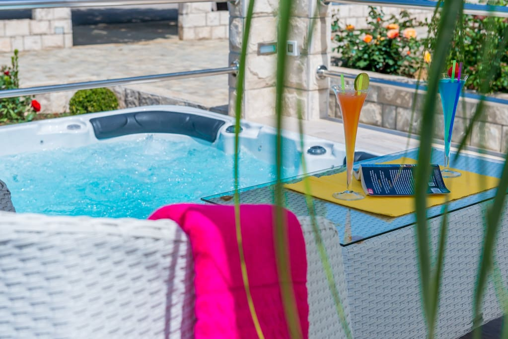 Hot Tubs (outdoor jacuzzies) It can be ideal refreshment during hot sunny days & nights :)