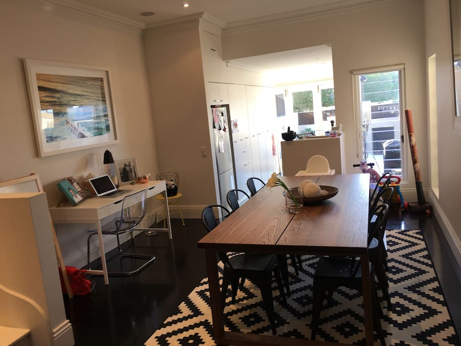 Dining room and desk/work station