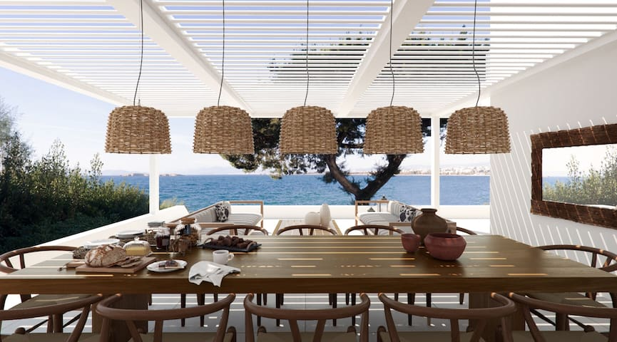 THE MARGI VILLA, Beachfront-SeaView-Private-Luxury