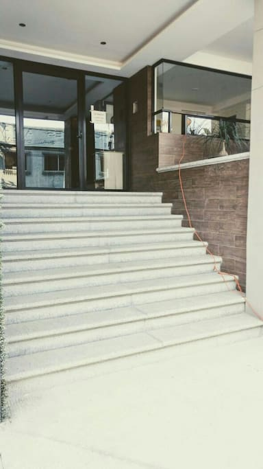 Stairs to the condominium private lobby