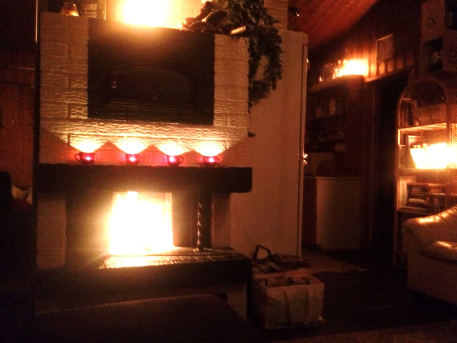 Romantic atmosphere with fire