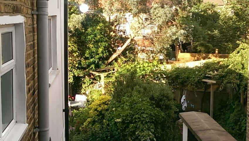 guest room overlooks garden