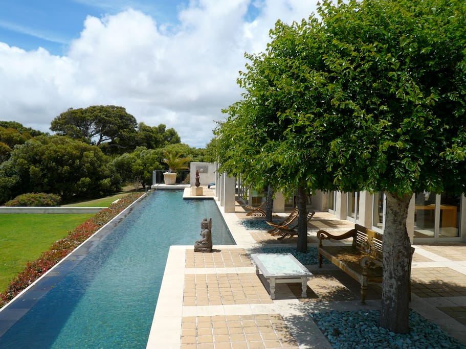 28 meter infinity swimming pool, with ocean views