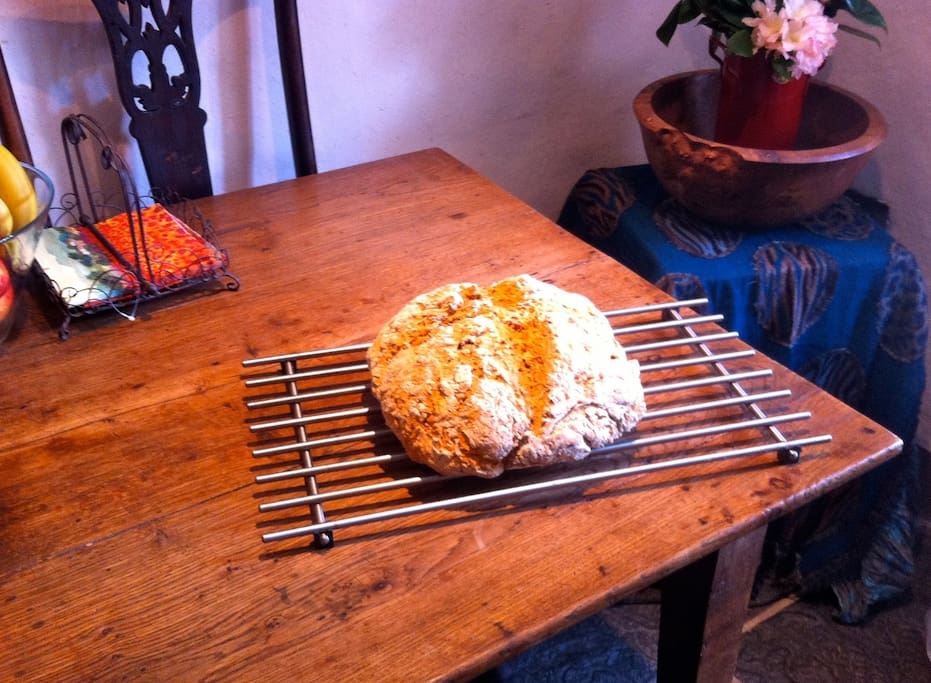 Irish organic soda bread, part of vegan or vegetarian breakfasts option