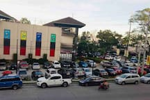 Ayala Serin Mall and side street parking