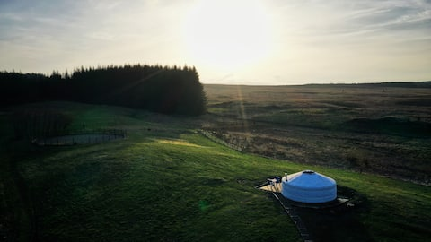 Mongolian Yurt on the edge of the Galloway Forest