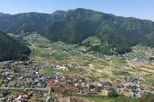 Wakaho landscape 太郎山から若穂保科を見る