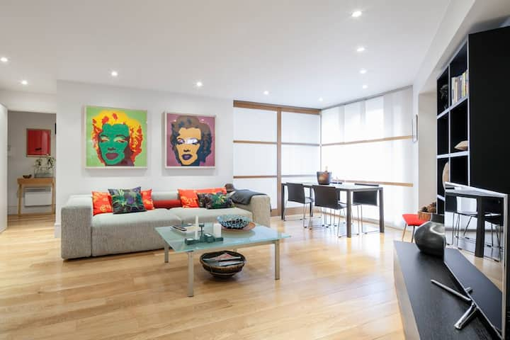 Central spacious luxuary one bedroom flat