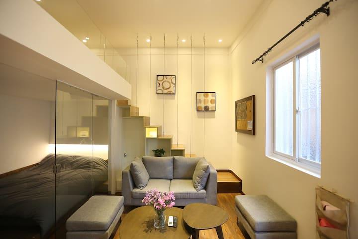 01.老厦门港口复式两房Loft,地理绝佳,步行可到厦大、中山路等景区 - Xiamen - Appartement
