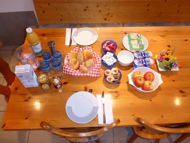 Das Morgenessen ist bei uns immer inklusive für unsere Gäste.