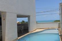 Flat vista Mar e Morro do Careca no melhor local de Ponta Negra - 300m da Praia - acomoda 2 pessoas