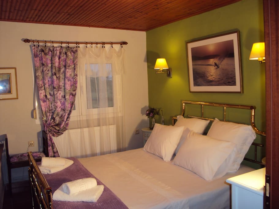 Room No 2. Recently redecorated to perfection with a king size bed.