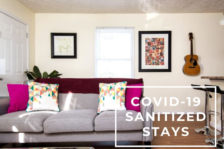 Sanitized Spacious East Nashville Apt