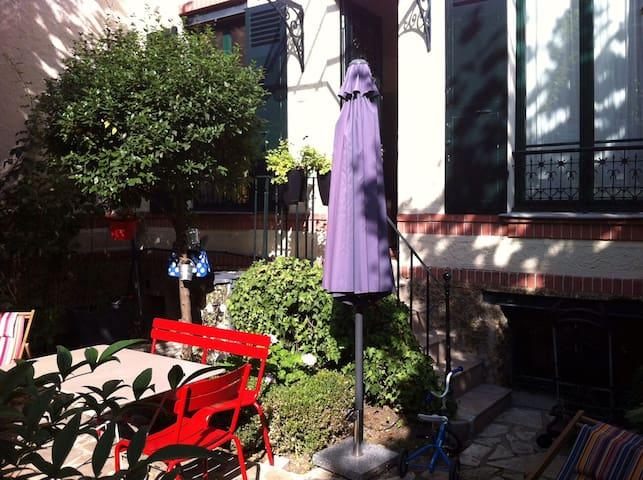 Belle maison familiale avec jardin - Boulogne-Billancourt - Casa