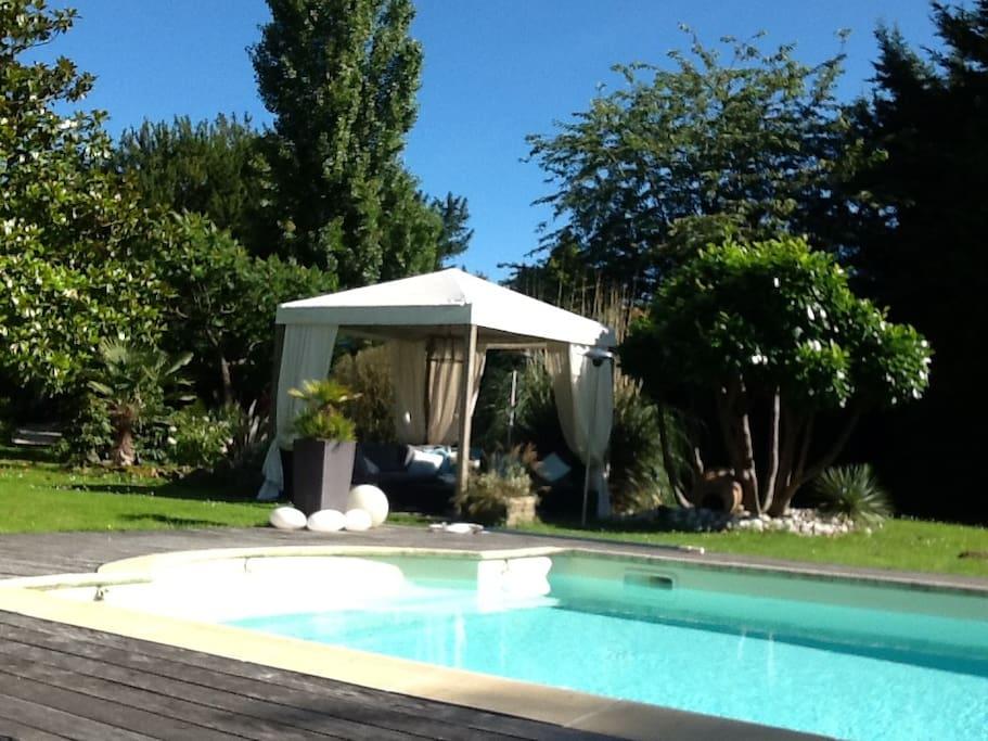 Un des honeymoon donnant sur la piscine ...