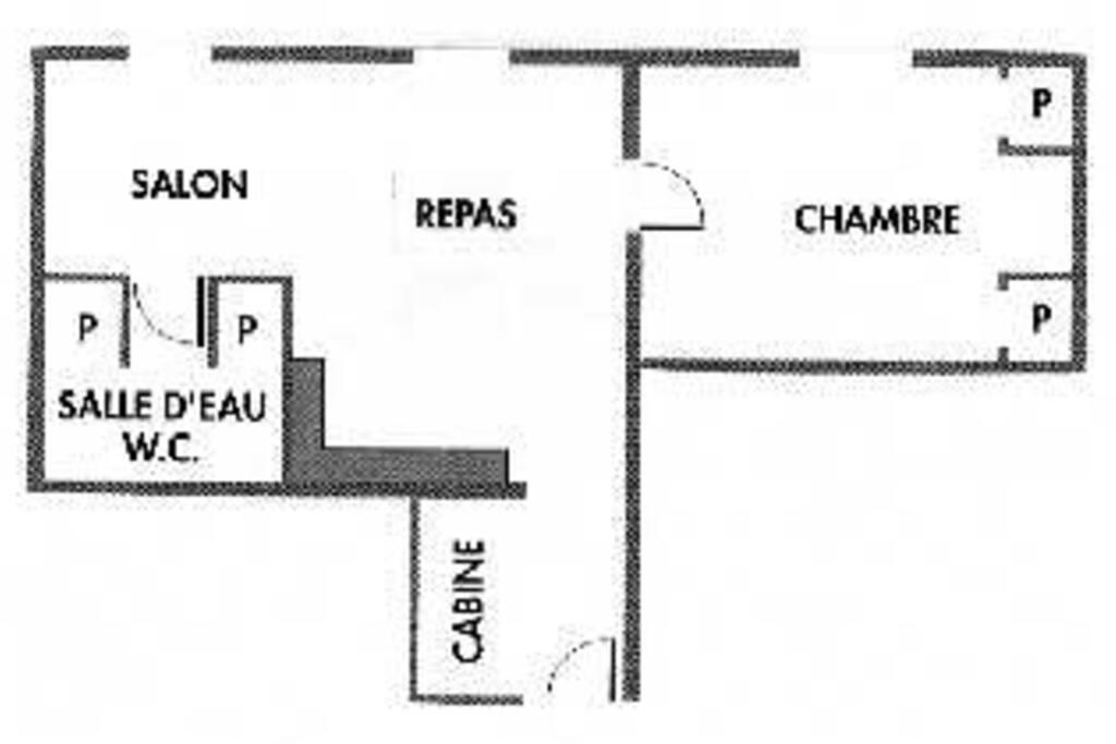 Plan du gîte  les Romarins