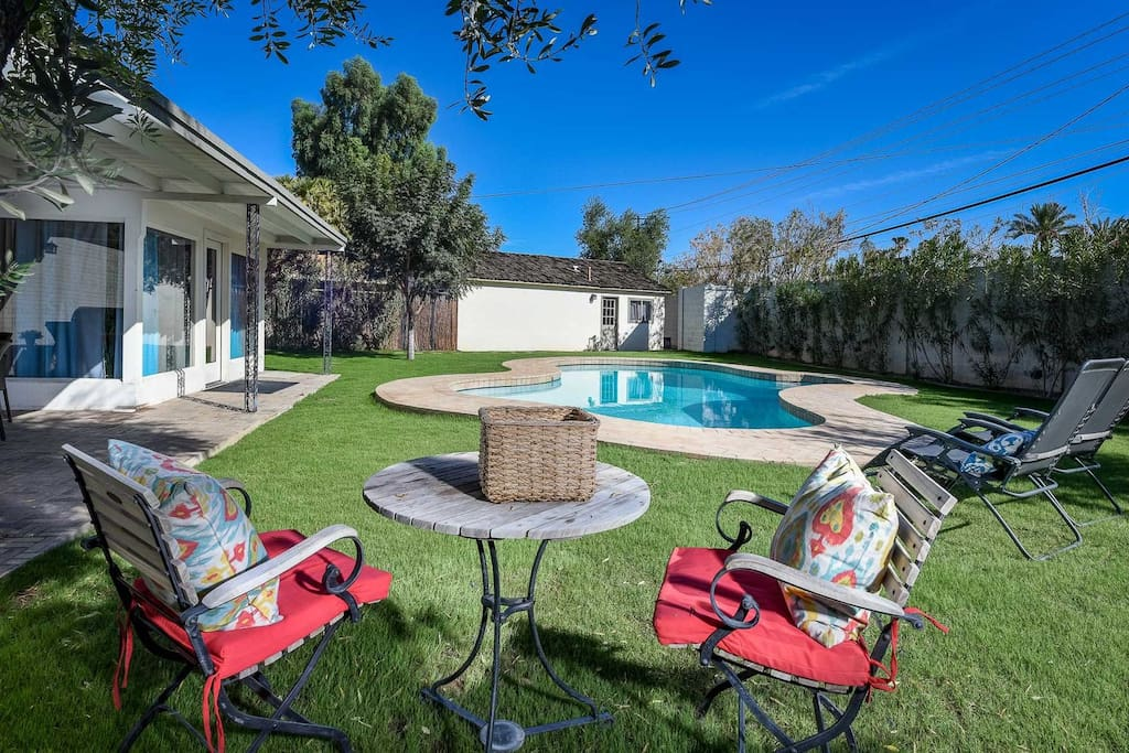 Private Outdoor Pool and yard