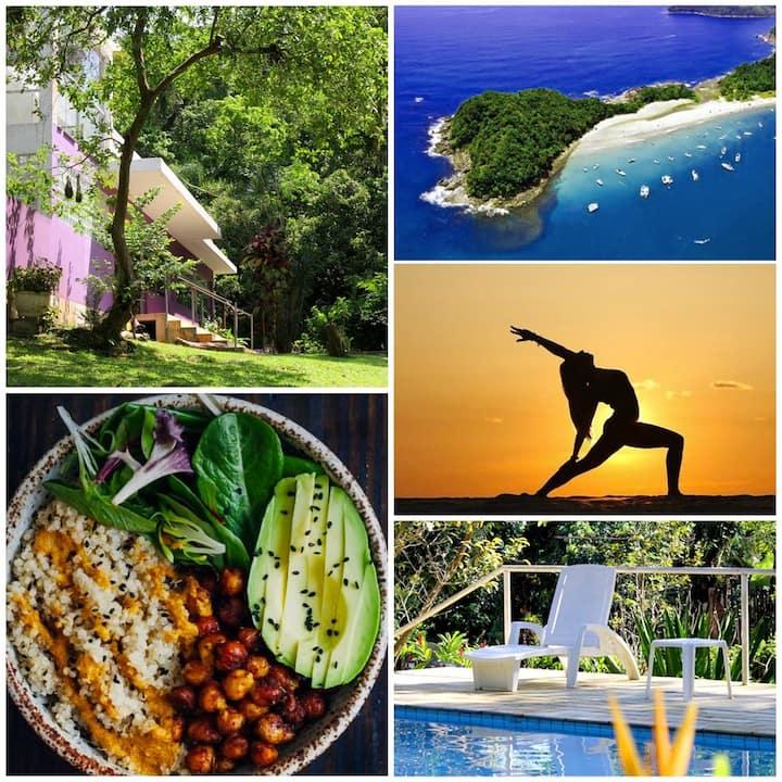 Casa Bacarirá ecolodge - opção vegana com yoga