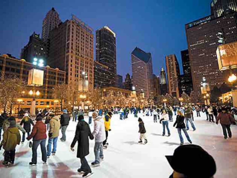 Ice Skating available downtown come winter time!